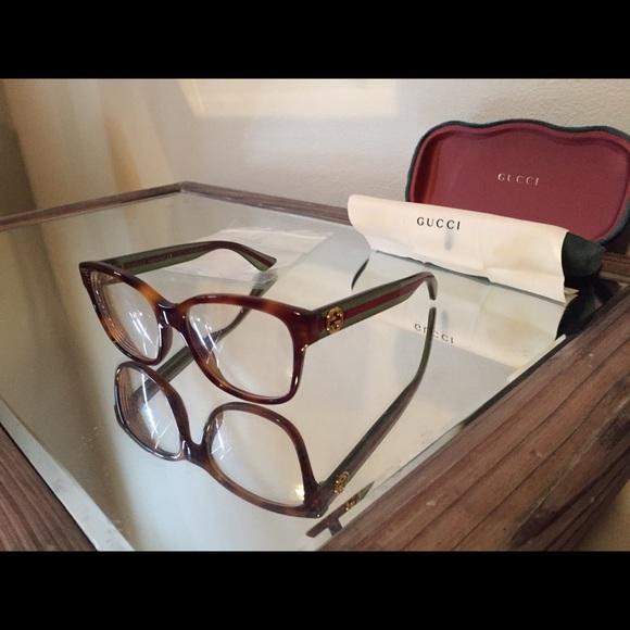 ebd7e80efd9 Gucci Accessories - Gucci Eyeglass Frames - GG0038O 002 - Havana Green